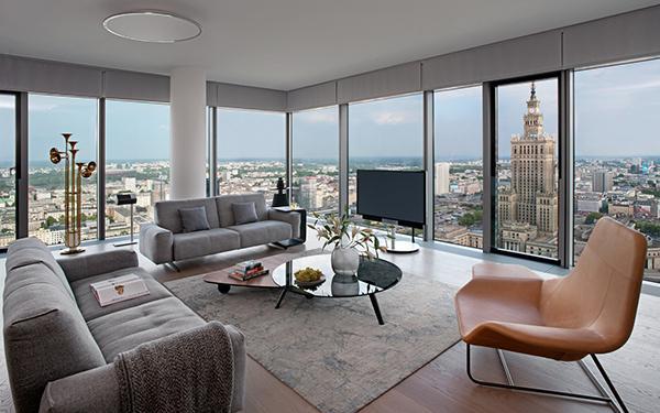 Apartament w chmurach - projekt Anny Koszeli